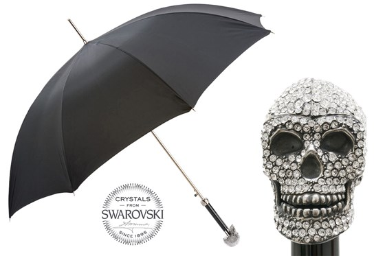 Luxury Swarovski Skull Umbrella