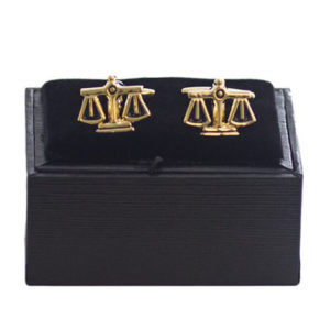 Cufflinks - Scales of Justice Moulded - Gold/Silver