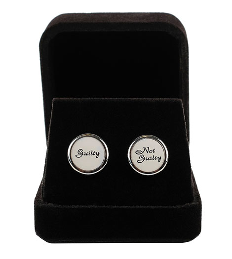 Earrings – Guily/Not Guilty (studs) - Silver